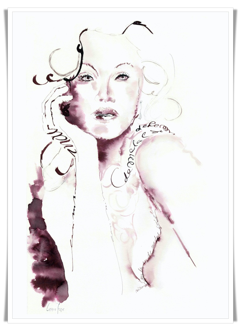 Figuration Feminine _ Carmen Bayer _ artist acuarele 1 mic
