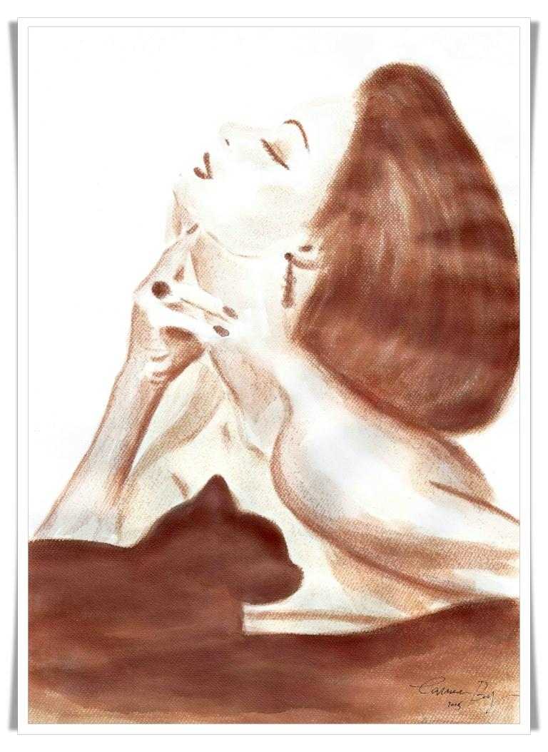 Figuration Feminine cu vin artist Carmen Bayer 2 mic