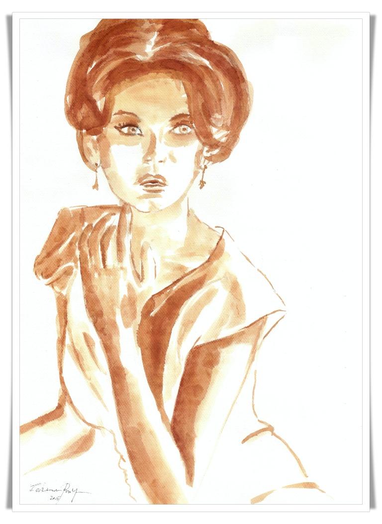 Figuration Feminine cu vin artist Carmen Bayer 4 mic